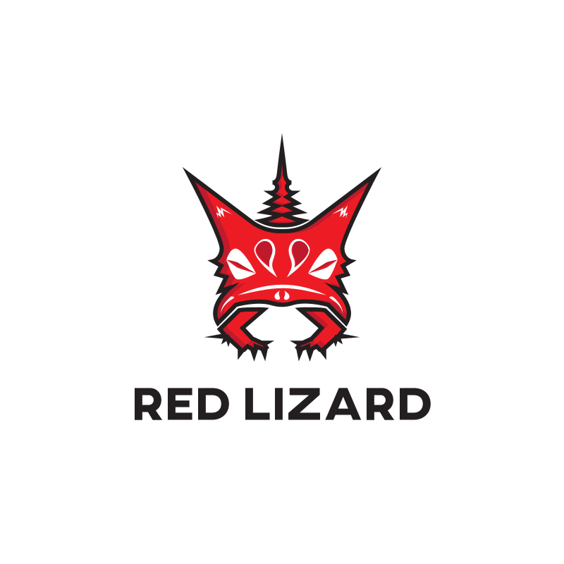Red Lizard logo design