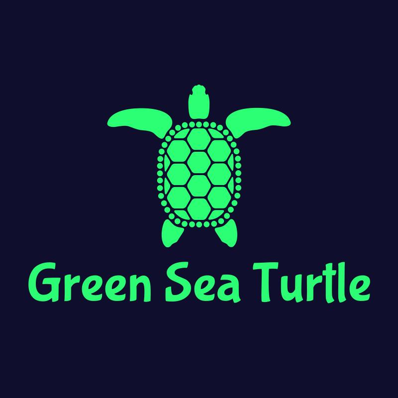 Green Sea Turtle Logo