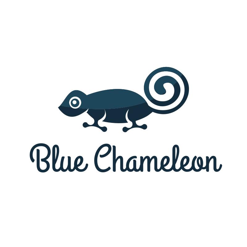 Blue Chameleon logo design
