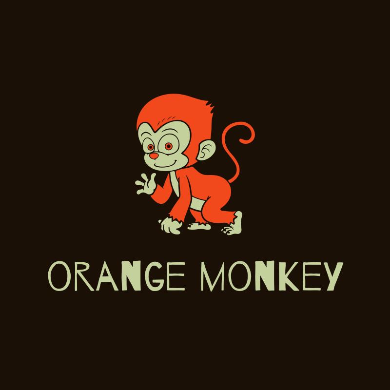 Orange Monkey Logo Design