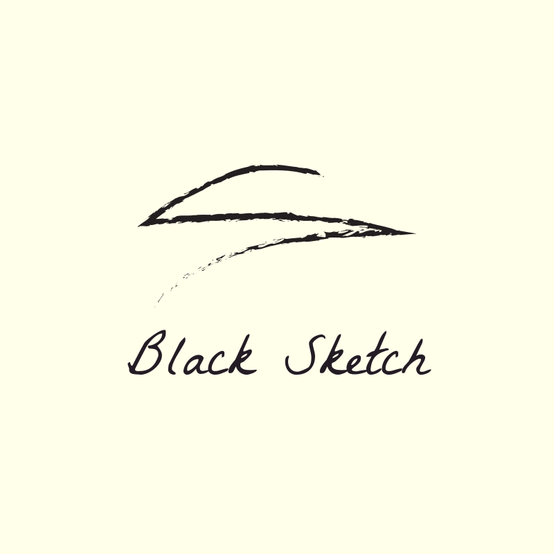 Black Sketch Logo