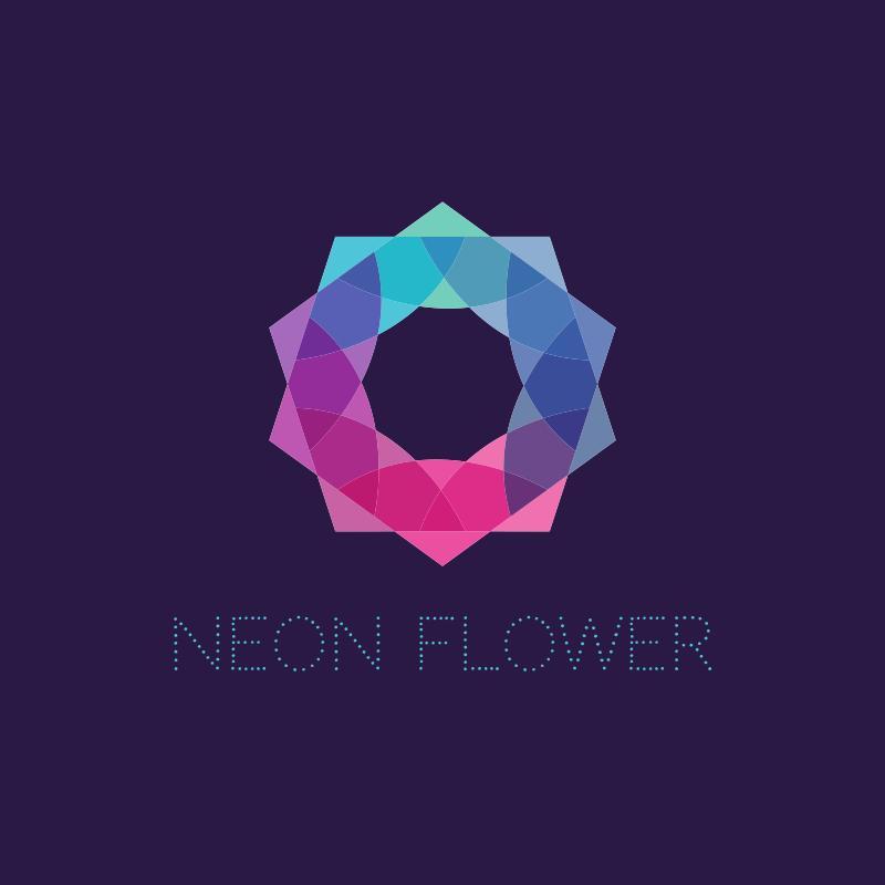 Neon Flower Logo