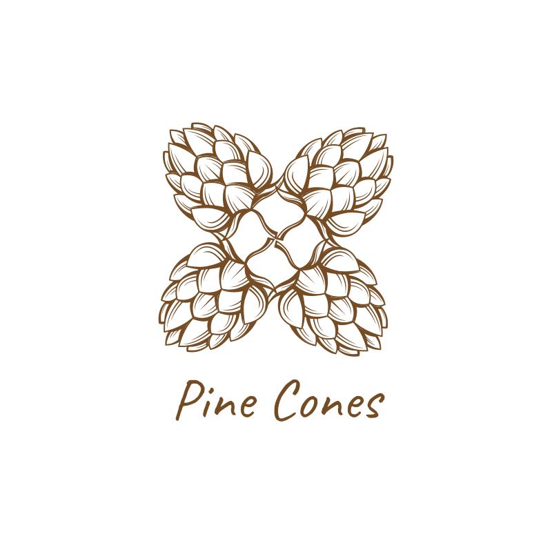Pine Cones Logo
