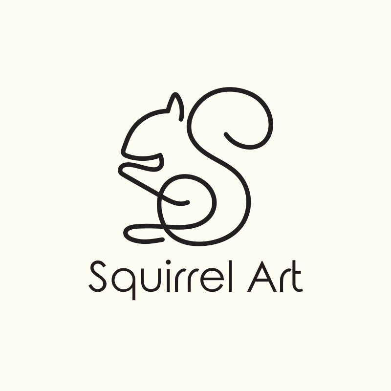 Squirrel Art Logo