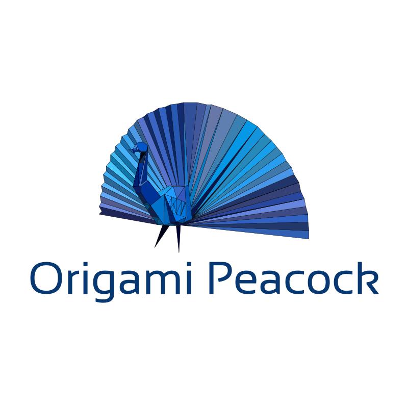Origami Peacock Logo