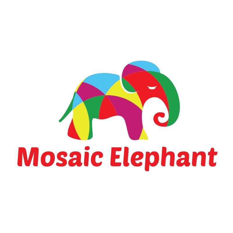 Mosaic Elephant Logo