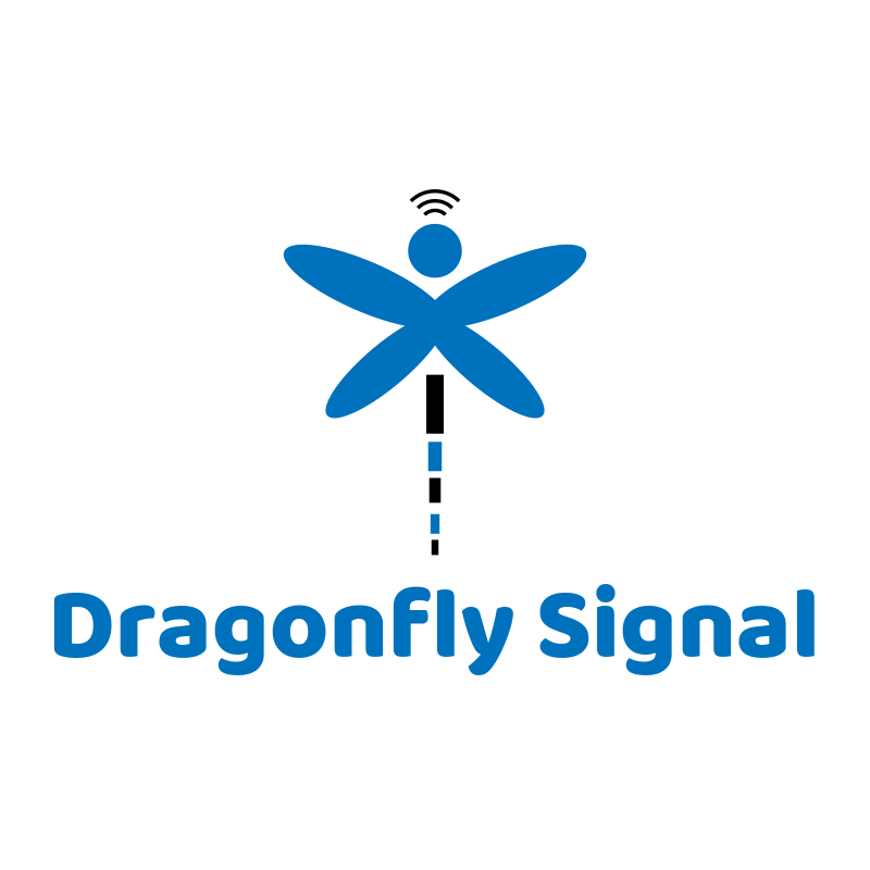 Dragonfly Signal Logo Design