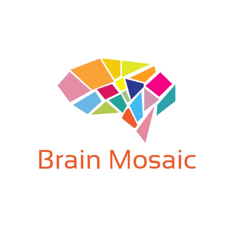 Brain Mosaic Logo
