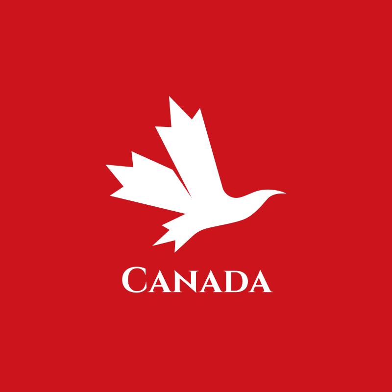 Canada Mapple Bird logo