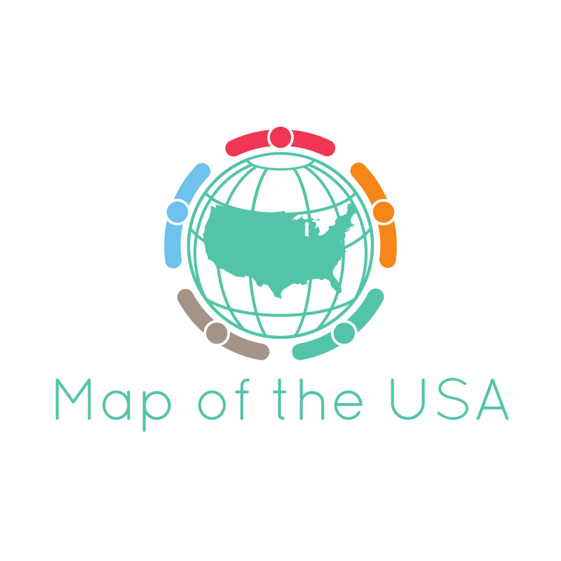 Map of the USA Logo