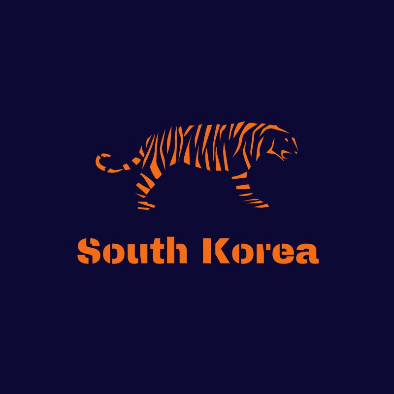 South Korean Tiger Logo