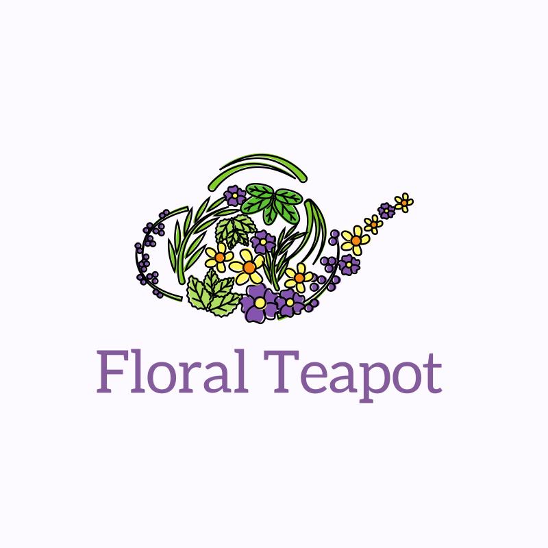 Floral Teapot Logo