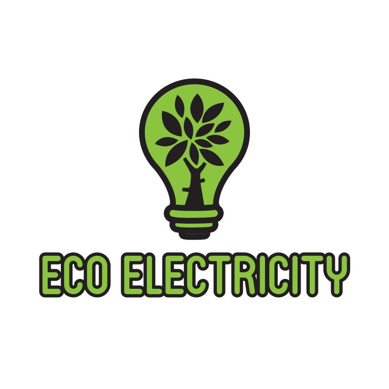 Eco Electricity Bulb Logo Design