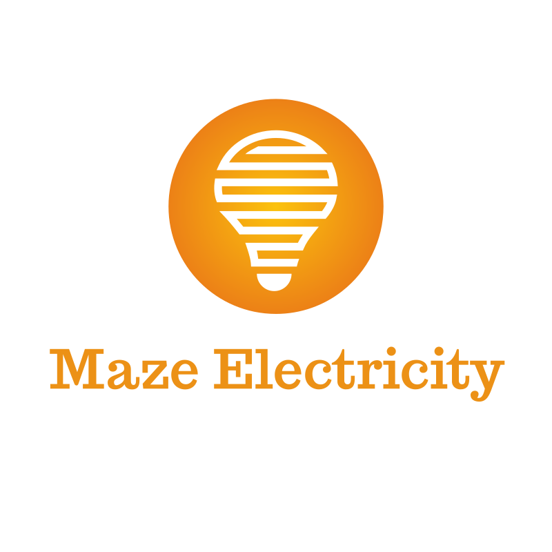 Maze Electricity Logo Design