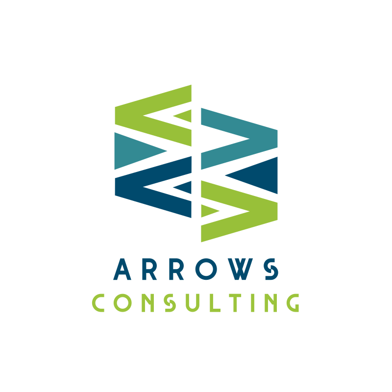 Arrows Triangle Consulting Logo Design
