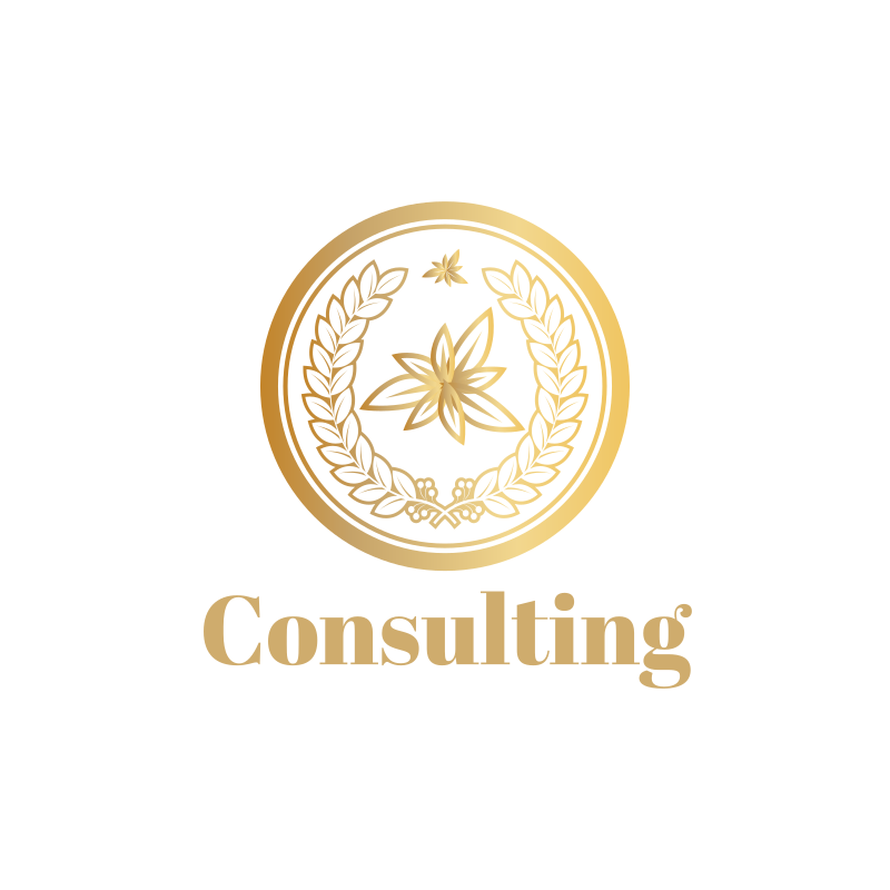 Golden Leaves Circle Consulting Logo Design