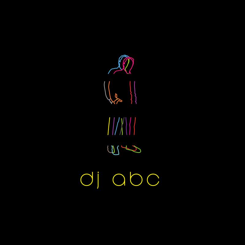 Black and Neons DJ Logo Design