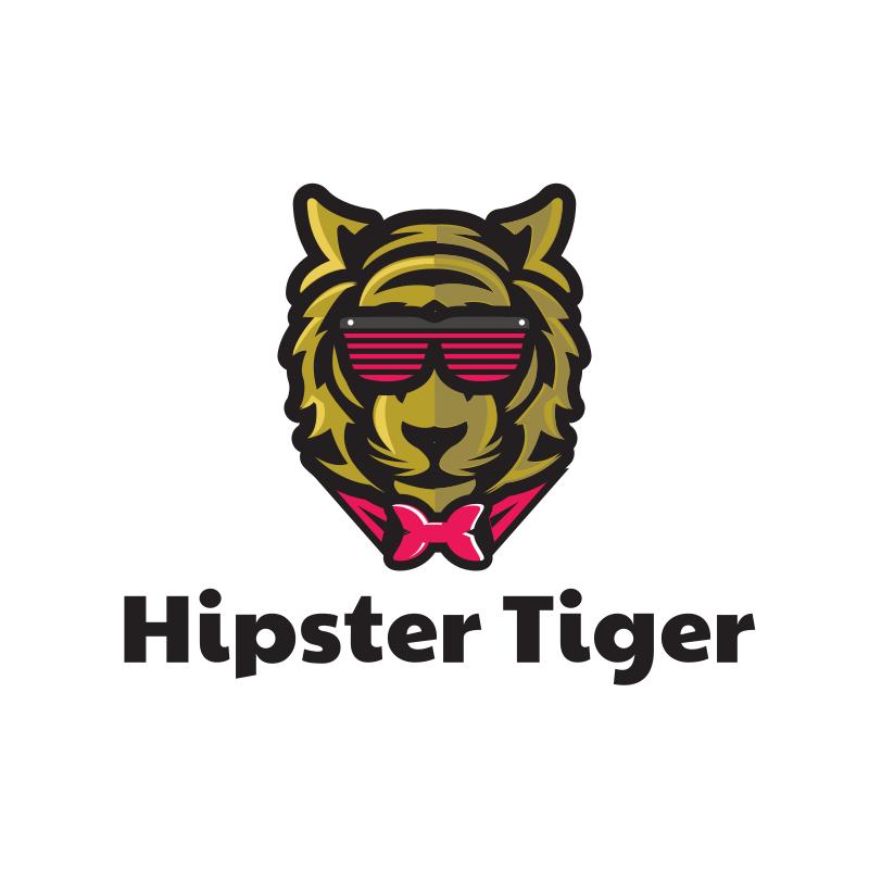 Hipster Tiger Logo Design