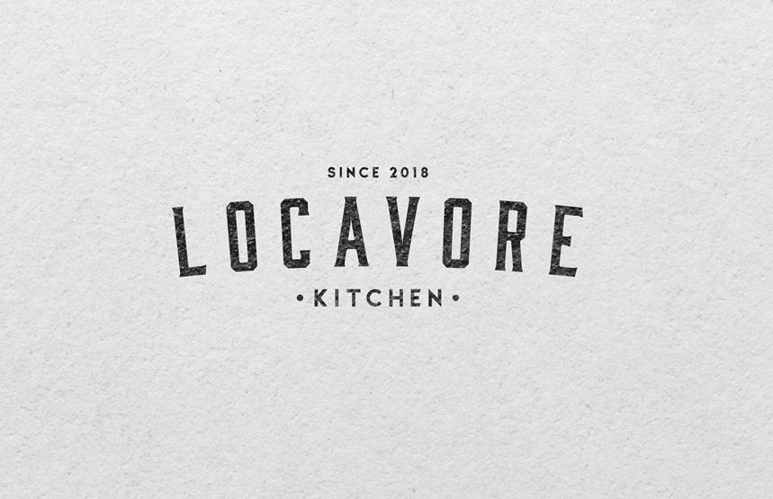 Locavore Kitchen Black and White Logo Design by mildtravis