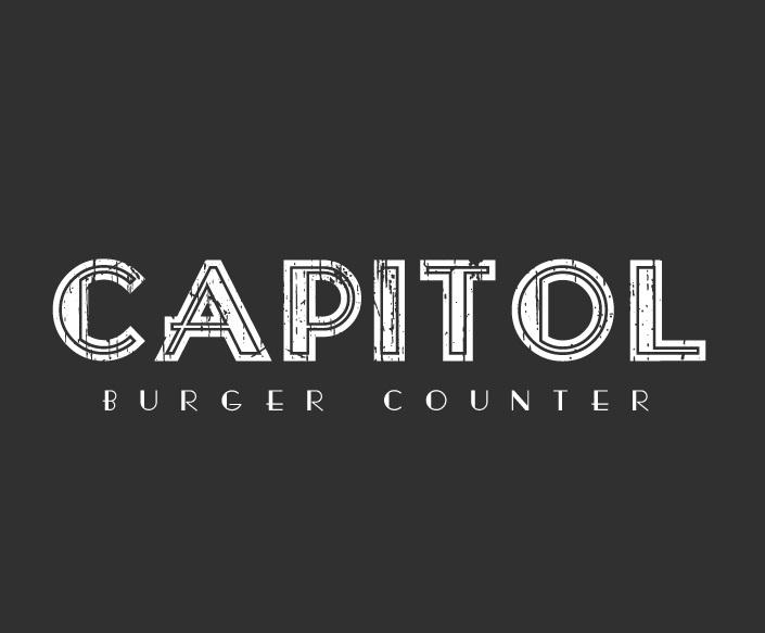Capitol Burger Counter Logo Design by madfoxvzla