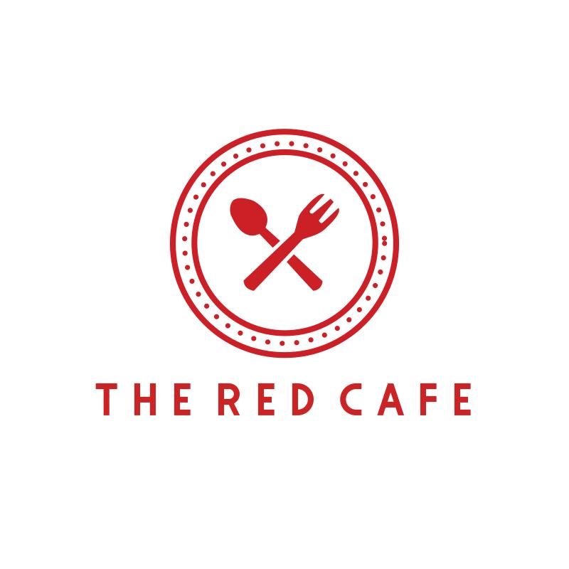 The Red Café Logo Design