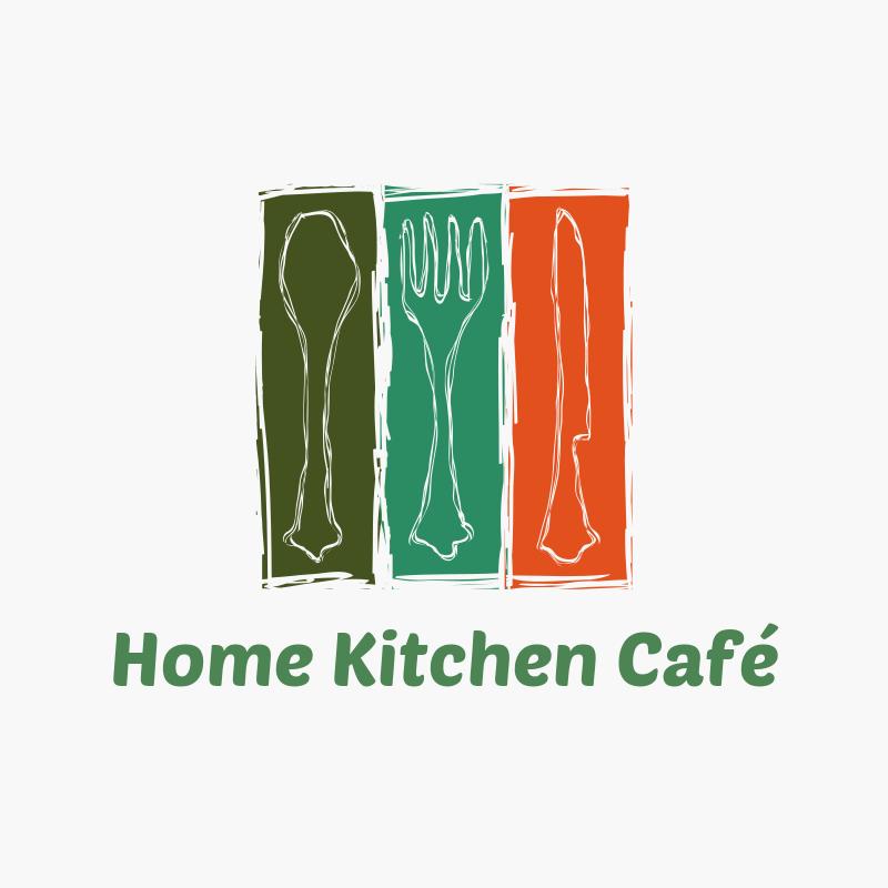 Home Kitchen Café Logo Design