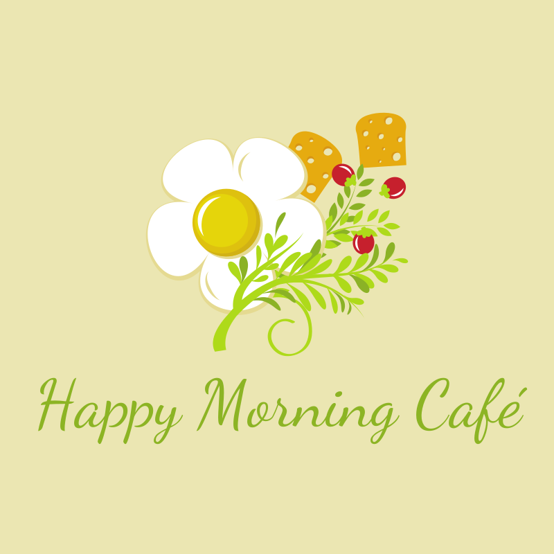 Happy Morning Café Logo Design
