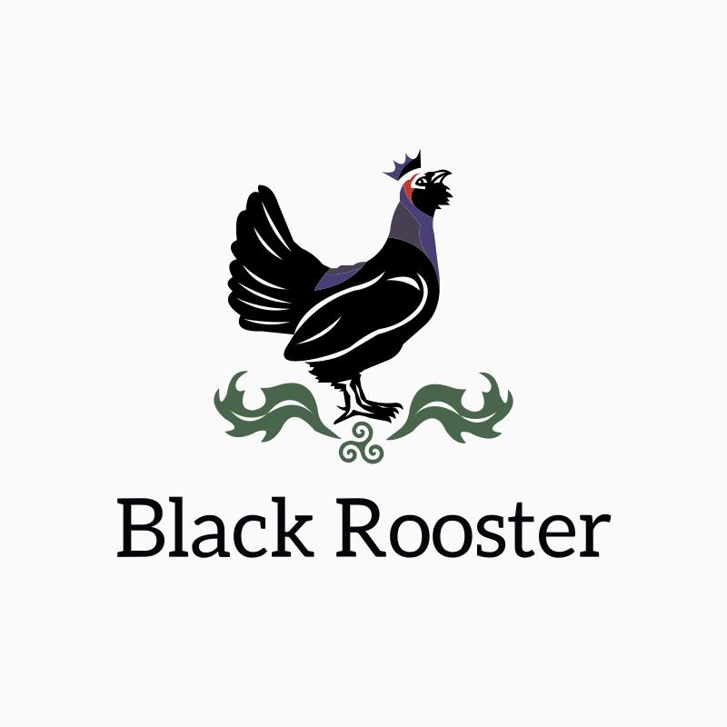Black Rooster Logo Design