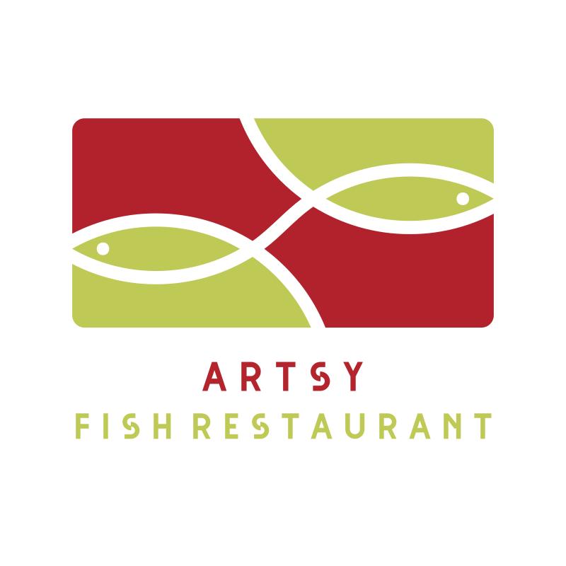 Artsy Fish Restaurant Logo Design