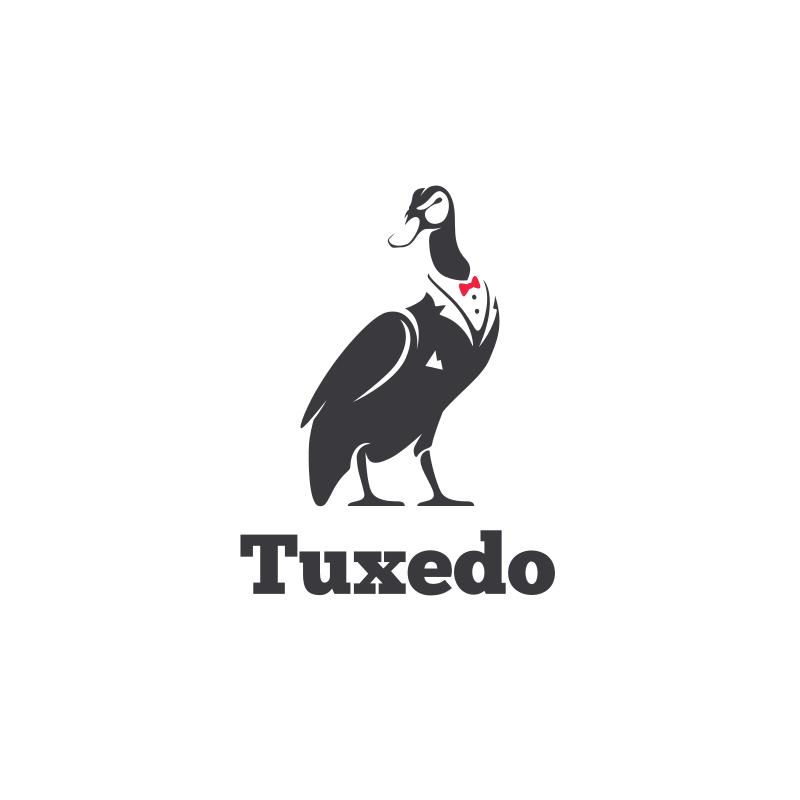 Tuxedo Duck Logo Design