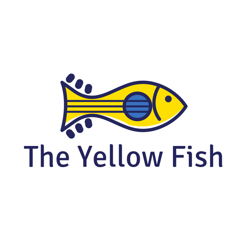 The Yellow Fish Logo Design