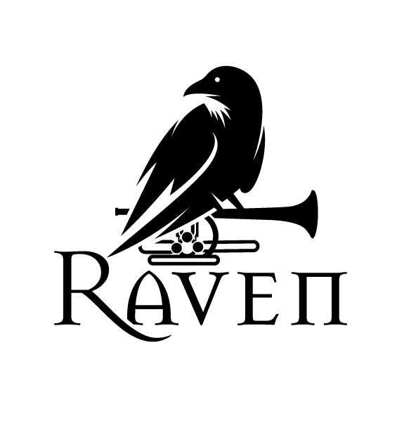 Black and White Raven Music Logo Design by Logo no 1