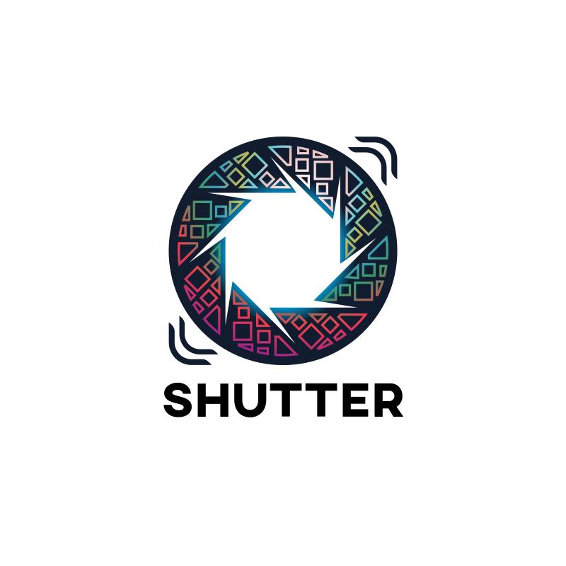 Camera Shutter Logo Design