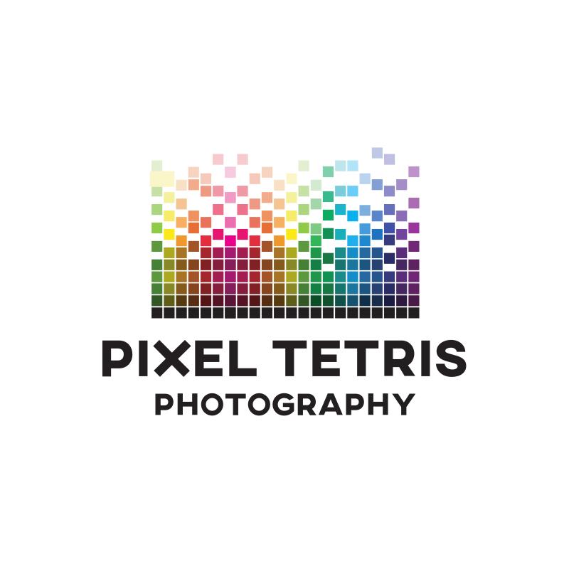 Pixel Tetris Logo Design