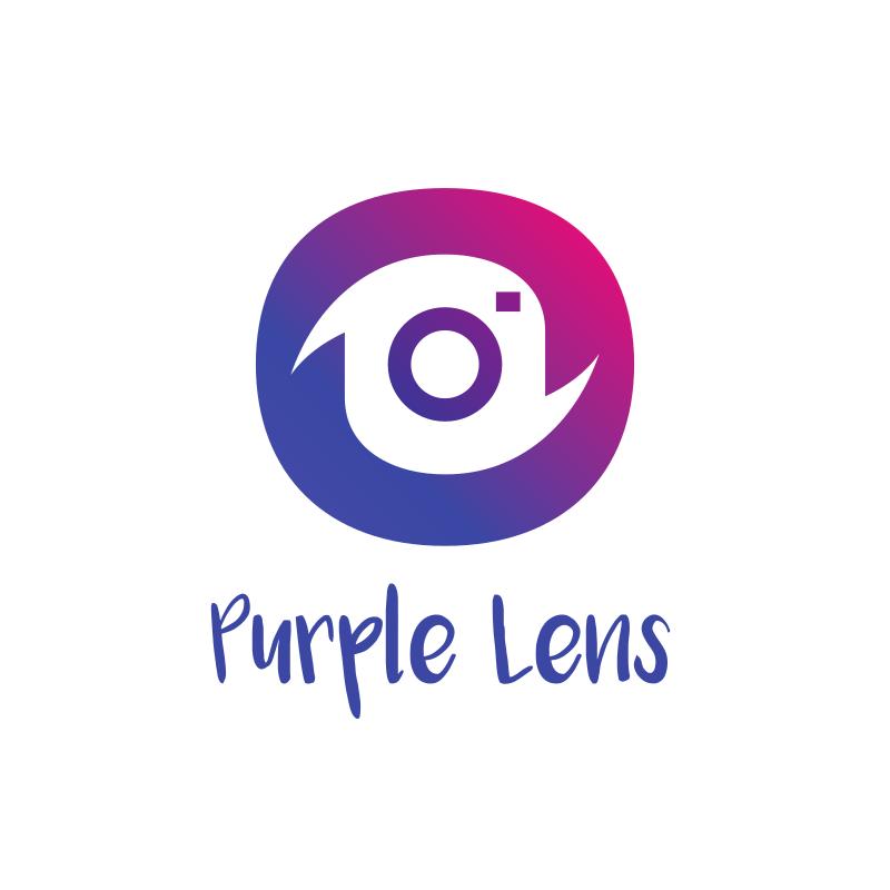 Purple Lens Logo Design