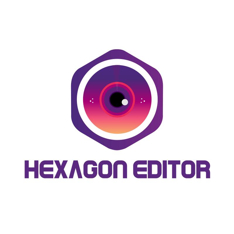 Hexagon Photography Editor Logo Design