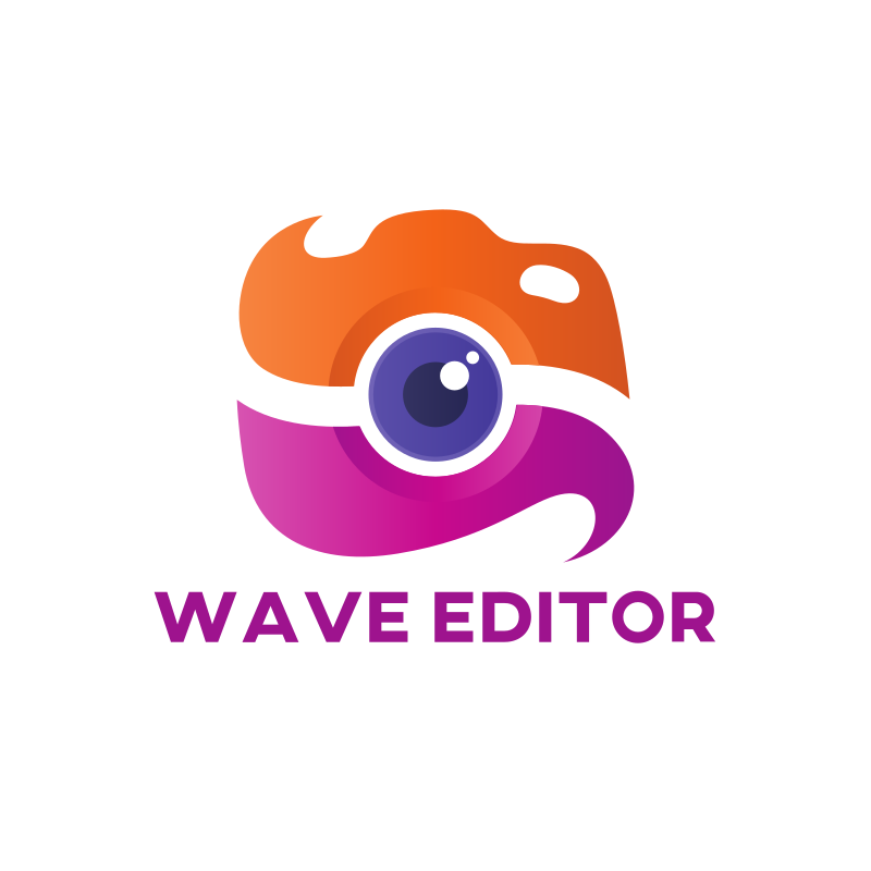 Wave Editor Logo Design