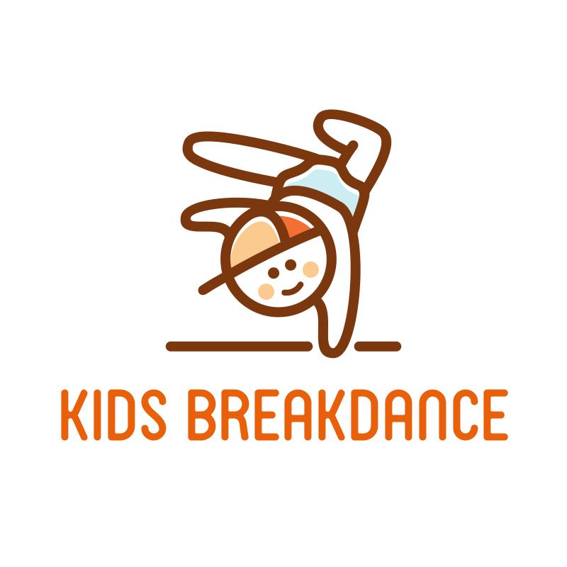 Kids Breakdance Logo Design
