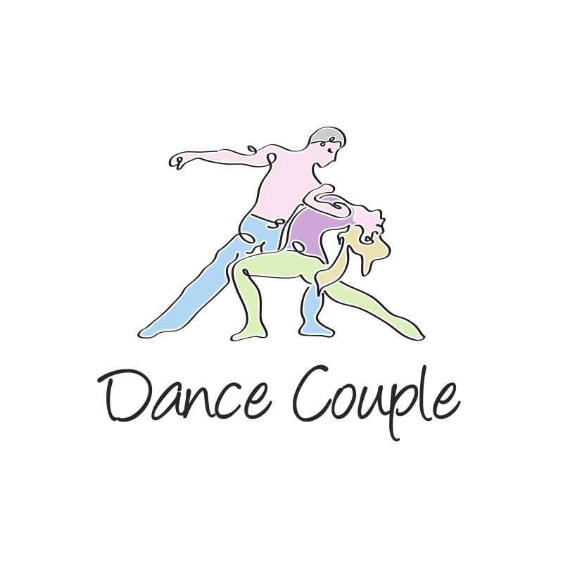 Dance Couple Logo Design