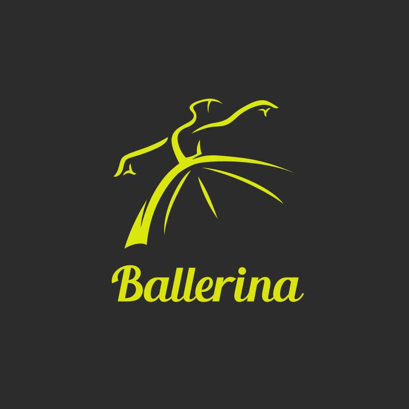 Dancing Ballerina Logo Design