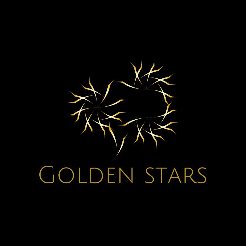 Golden Stars Dance Logo Design
