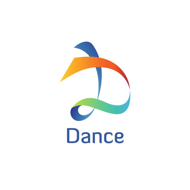 Dance Letter D Logo Design
