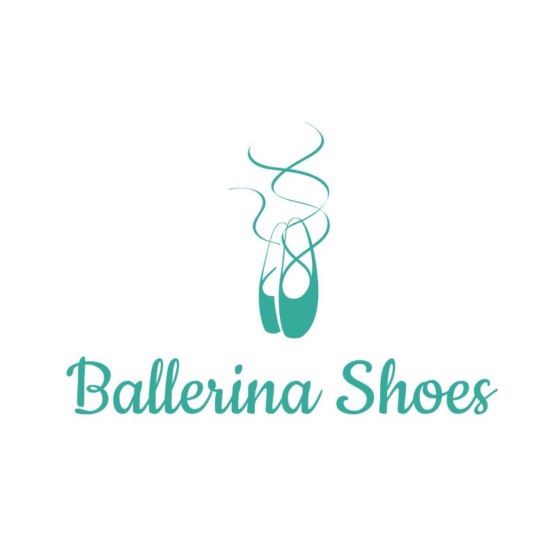 Ballerina Shoes Logo Design