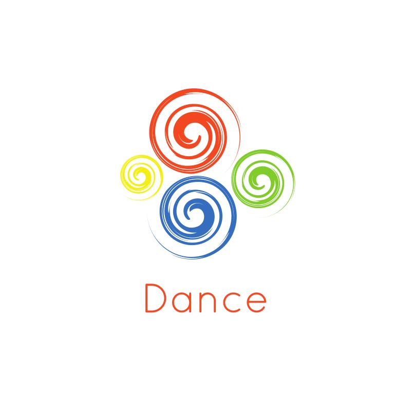 Dance Swirls Logo Design