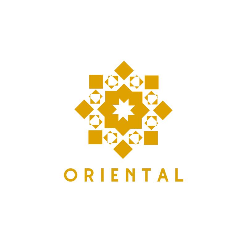 Yellow Oriental Logo Design
