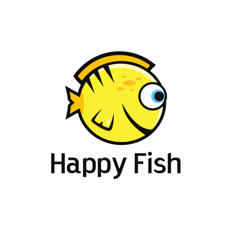 Happy Fish Logo Design