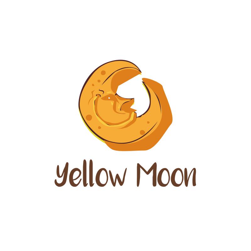 Yellow Moon Logo Design
