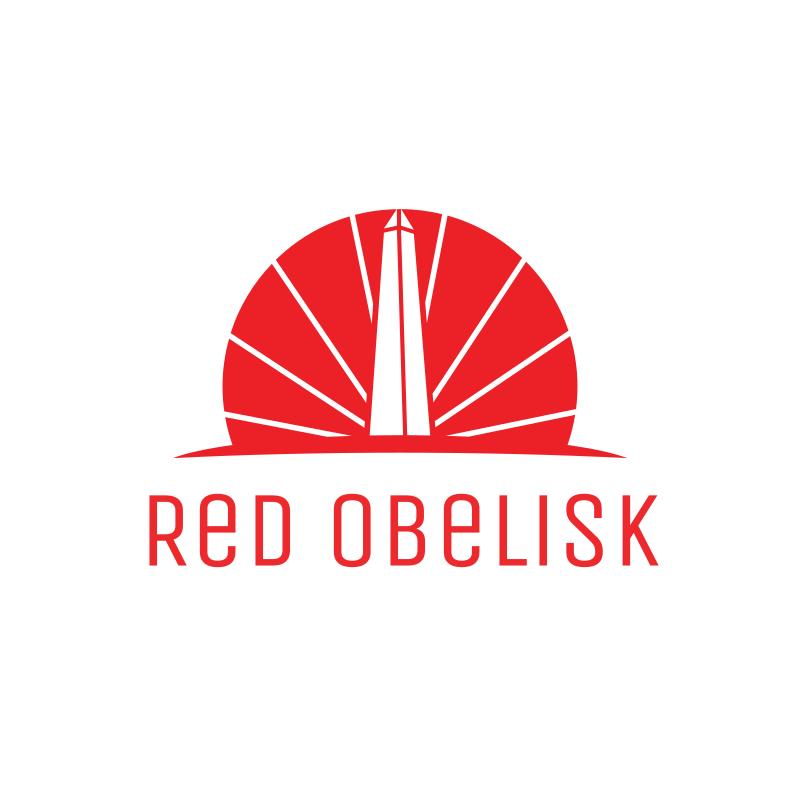 Red Obelisk Logo Design
