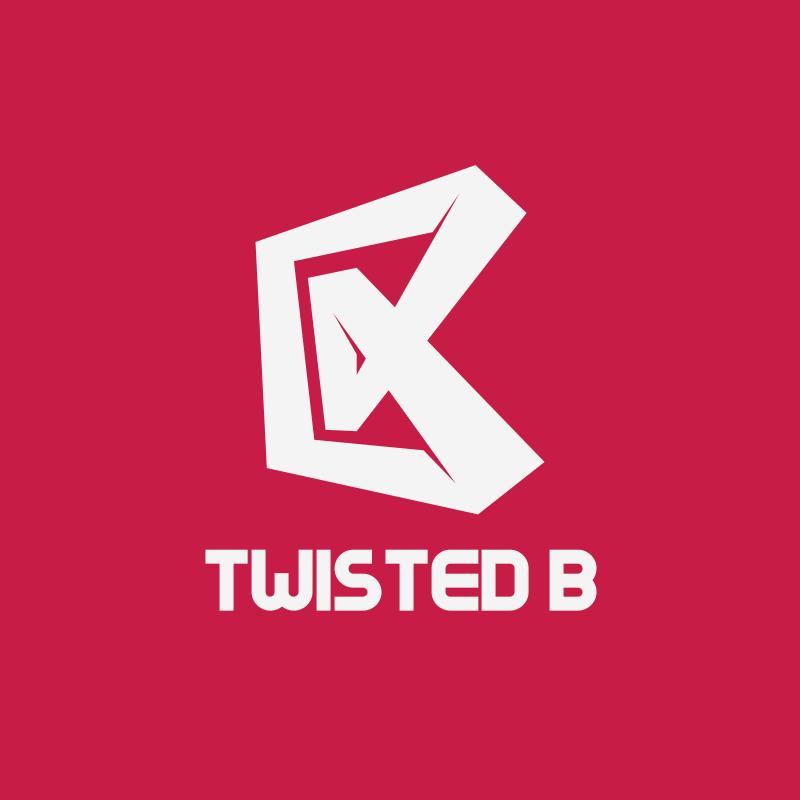 Red Twisted B Logo Design