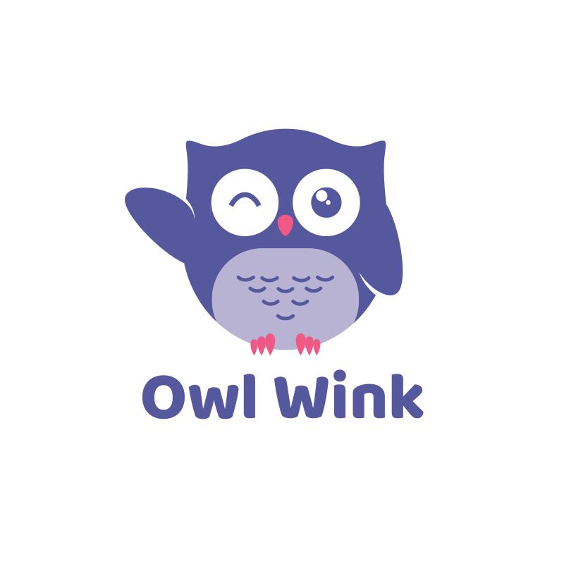 Owl Wink Logo Design
